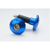 UNIVERSAL MOTORCYCLE SLIM STYLE BAR ENDS BLUE