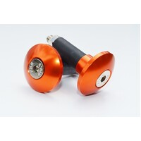 UNIVERSAL MOTORCYCLE SLIM STYLE BAR ENDS ORANGE